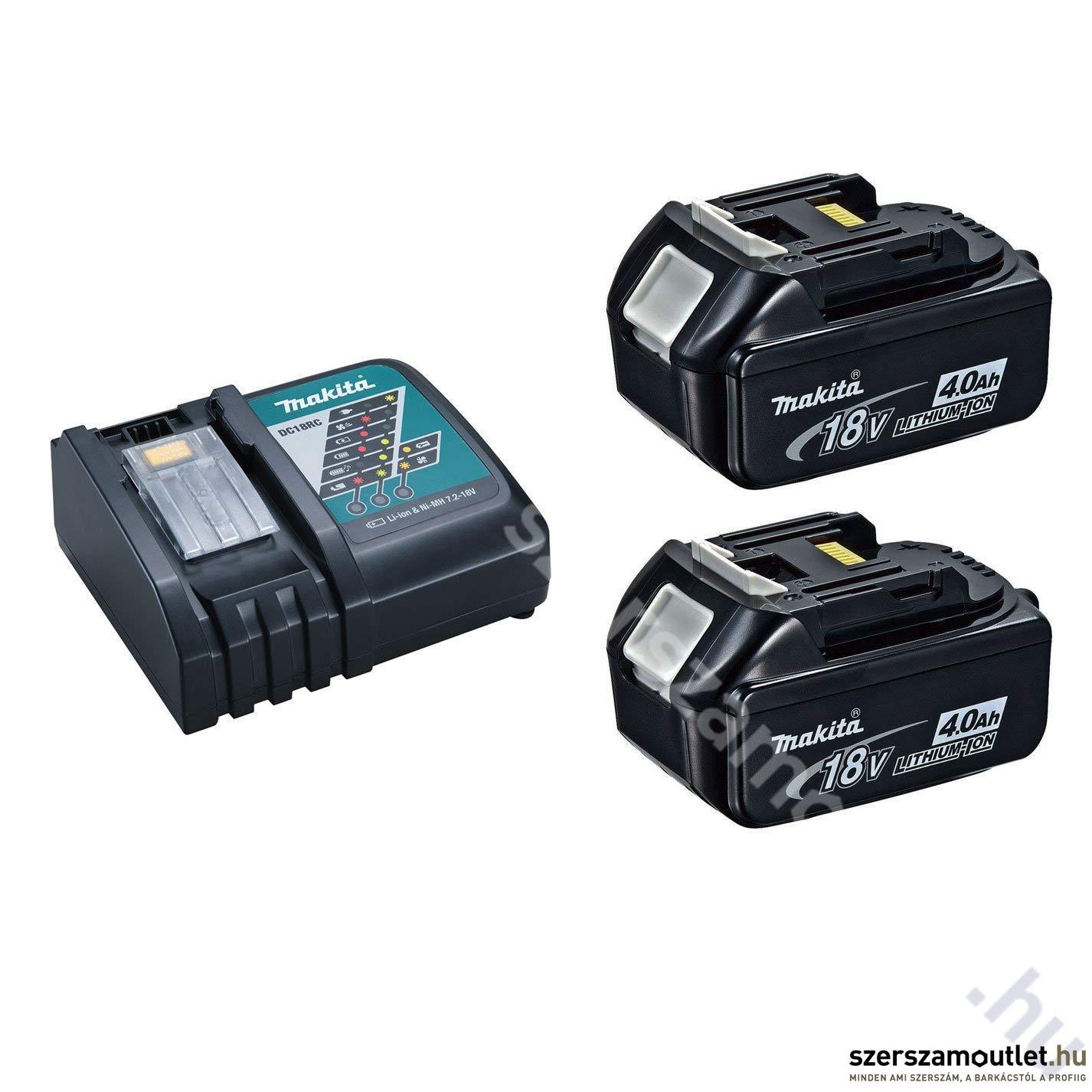 MAKITA 2db BL1840 Akkumulátor DC18RC töltő csomag (18V Li