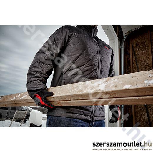 678941a04c MILWAUKEE M12 HJP-0 (L) Hibrid fűthető pufi kabát, fekete ...