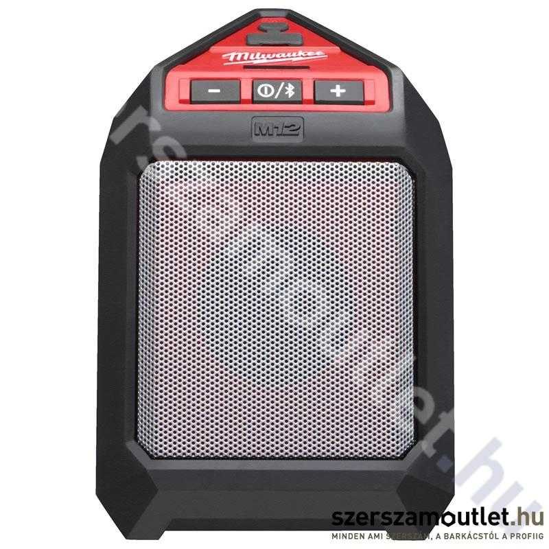 MILWAUKEE M12 JSSP 0 Bluetooth akkus hangszóró (12V) (Akku