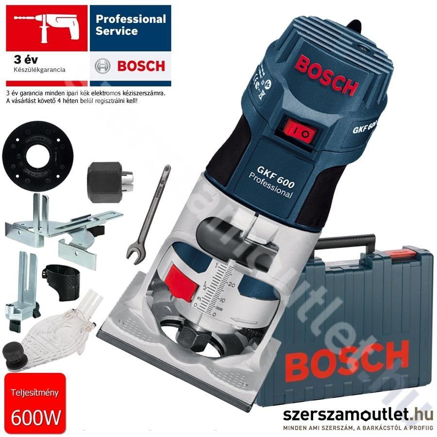 BOSCH GKF 600 élmaró kofferben + extrák
