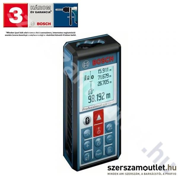 BOSCH GLM 100 C Professional lézeres távolságmérő