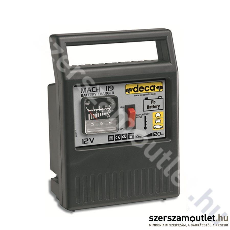Deca MACH 119 Hagyományos Akkumulátortöltő