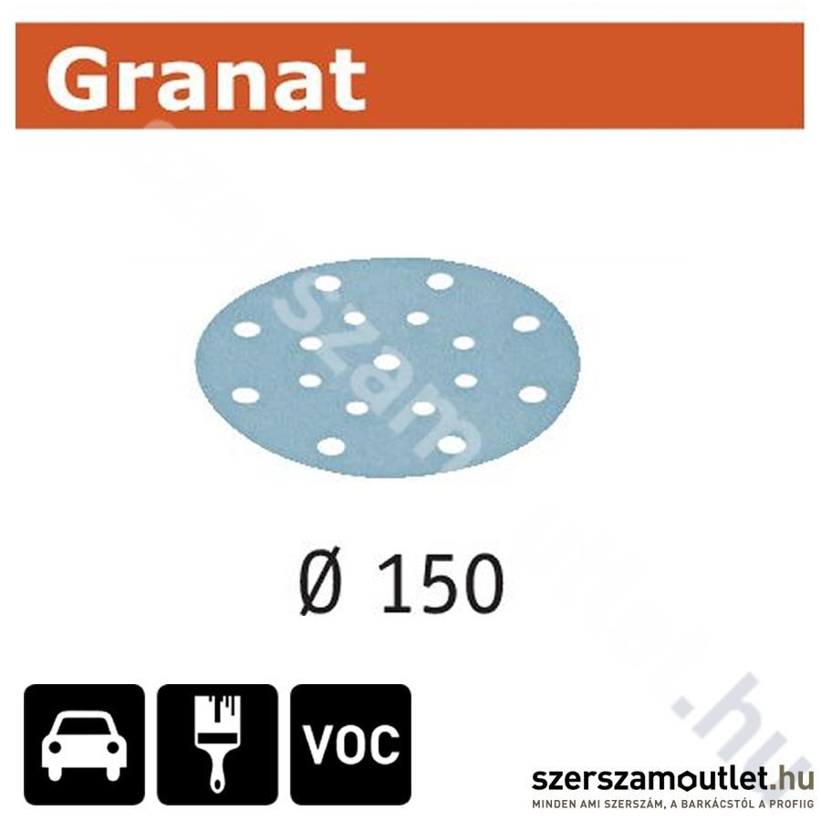 FESTOOL Csiszolópapír STF D150mm/16lyuk P400 Granat