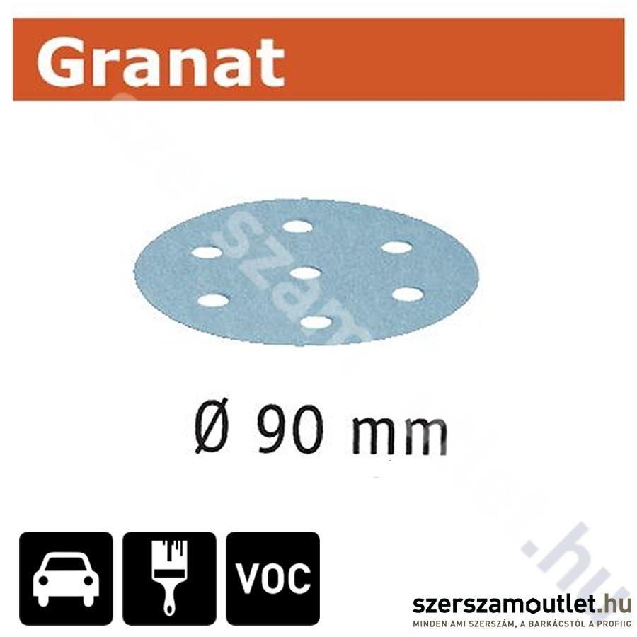 FESTOOL Csiszolópapír STF d90mm/6lyuk p120 Granat