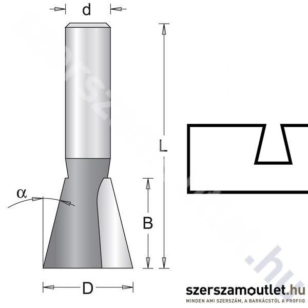 Hitachi Fecskefarkos Maró KéS D:6/D:12,7/B:12,7/L:45mm ?:14 (754020)
