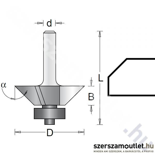 Hitachi háromkéses élmaró d:8/D:22,2/B:10/L:53mm ?:25 (754111)