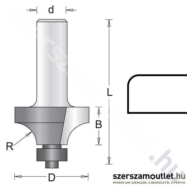 Hitachi Lekerekítőmaró Kés D:6/D:25,4/B:12,7/L:49/R:6,3mm (754033)
