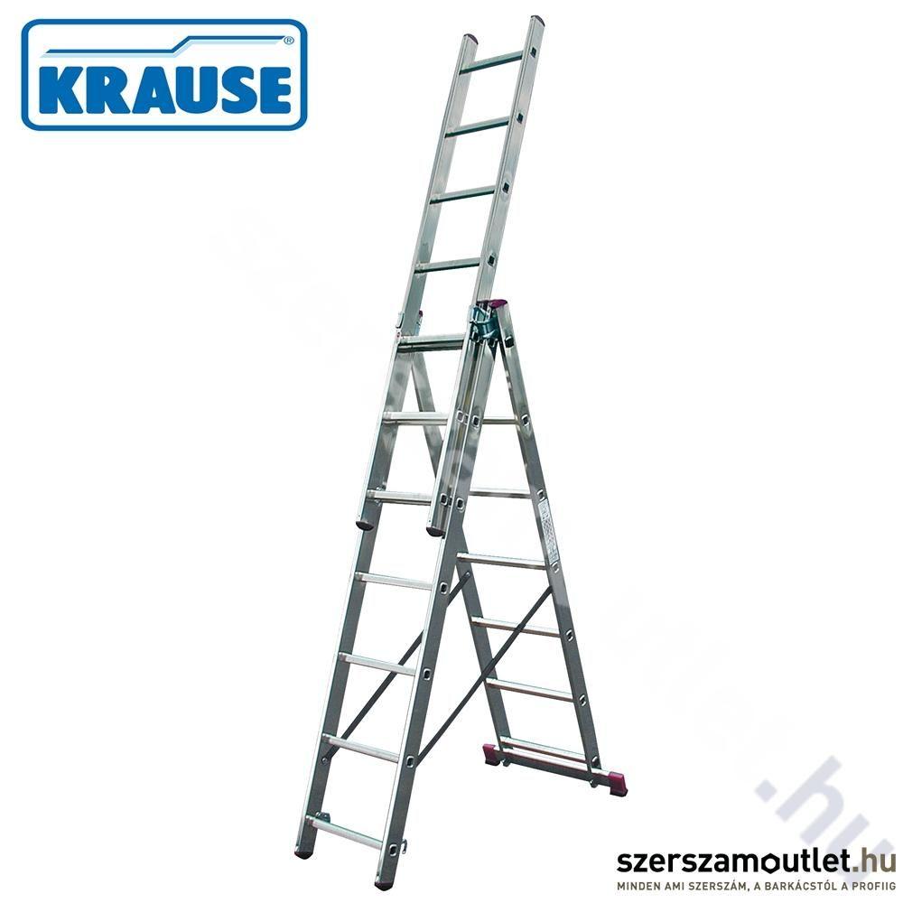 KRAUSE CORDA Sokcélú létra 3x11 fokos lépcsőfunkcióval (013422)