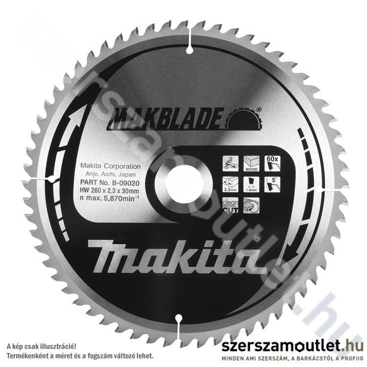 MAKITA MAKBLADE Körfűrésztárcsa gérvágóhoz 260x30 mm Z80 (B-09070)