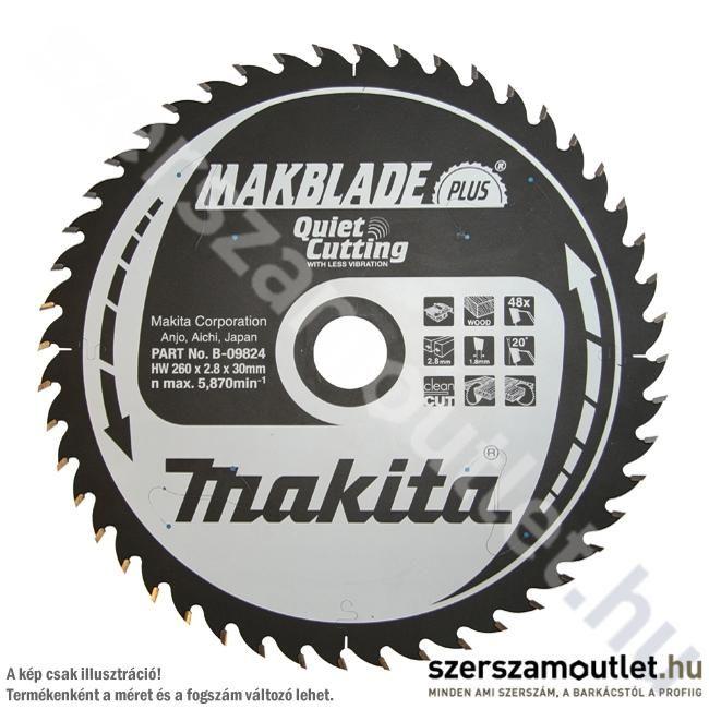 MAKITA MAKBLADE PLUS Körfűrésztárcsa Asztali Géphez 250X30 Mm z80 (B-08838)