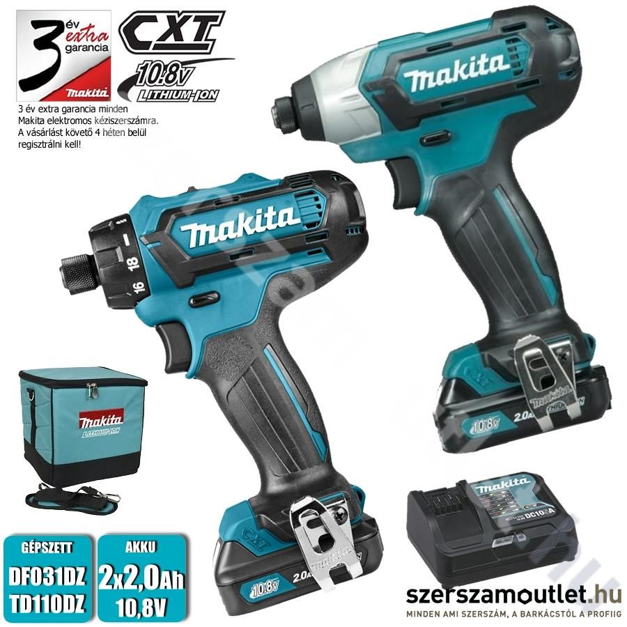 makita clx200sa akkus szett df031dz td110dz 2x2 0ah 10 8v akkus szettek. Black Bedroom Furniture Sets. Home Design Ideas
