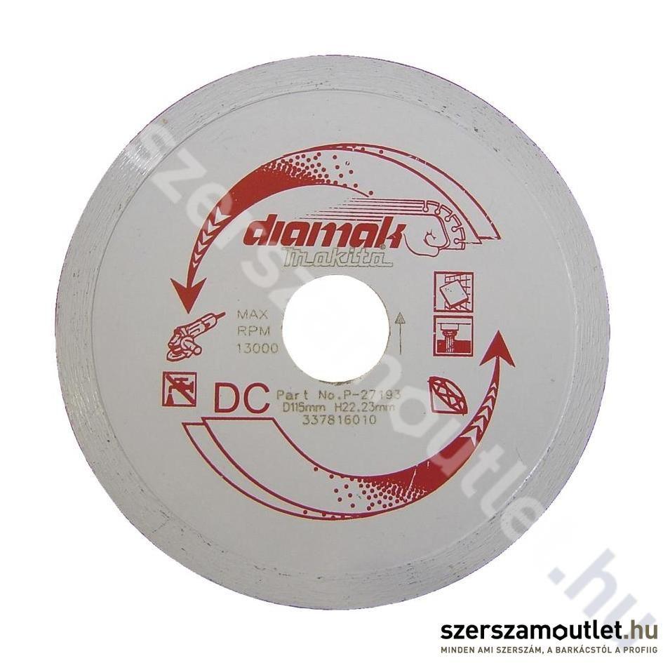 Makita Diamak folyamatos gyémánttárcsa 115mm (P-27193)