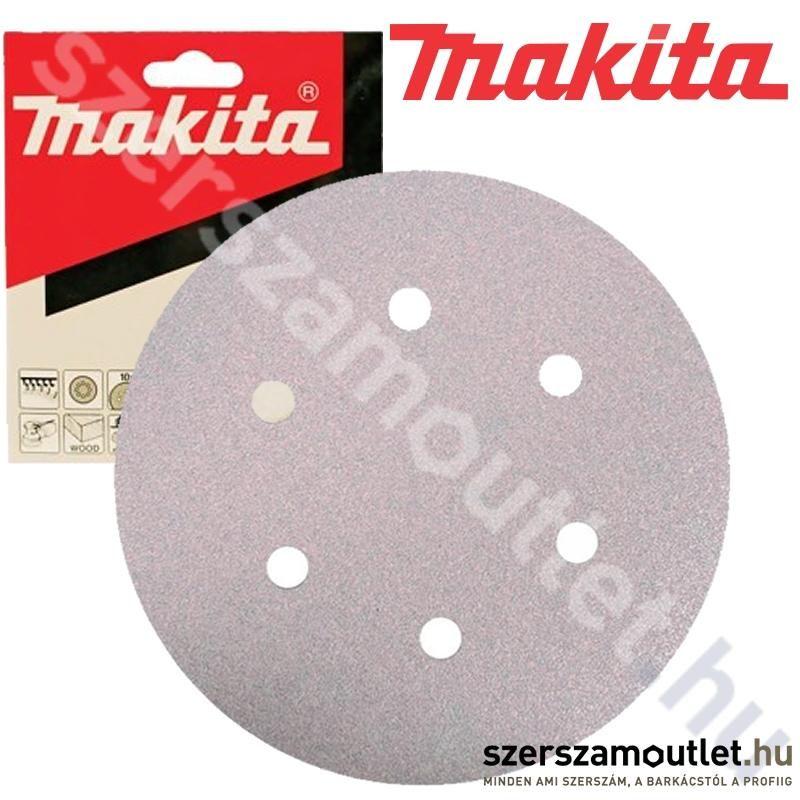 MAKITA tépőzáras csiszolókorong fehér 150mm K60 /10db (P-37661)