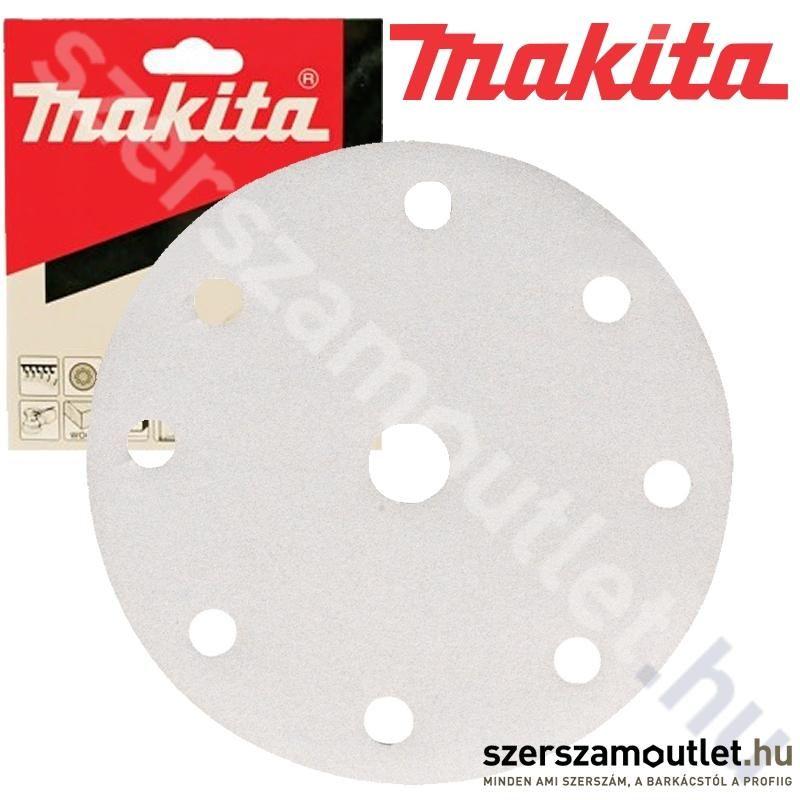 MAKITA Tépőzáras Csiszolókorong Fehér n9 150mm k40 /10db (P-37839)