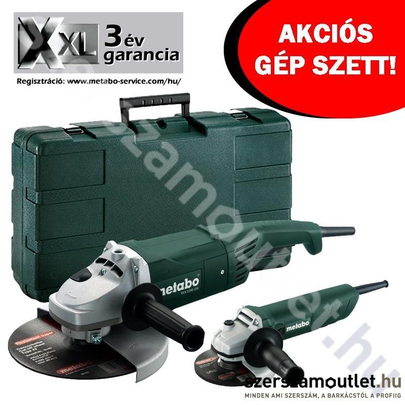 METABO WX 2200-230 + W 820-125 Sarokcsiszoló Kofferben AKCIÓS SZETT!