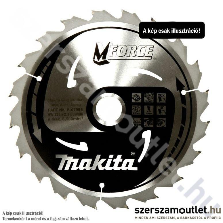 MAKITA Mforce Körfűrésztárcsa Durva Vágására 230X30 Mm z18 (B-07989)