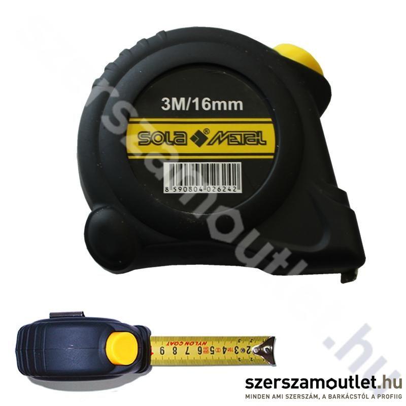 SOLA Autolock Mérőszalag 3m SM 3 (16mm)