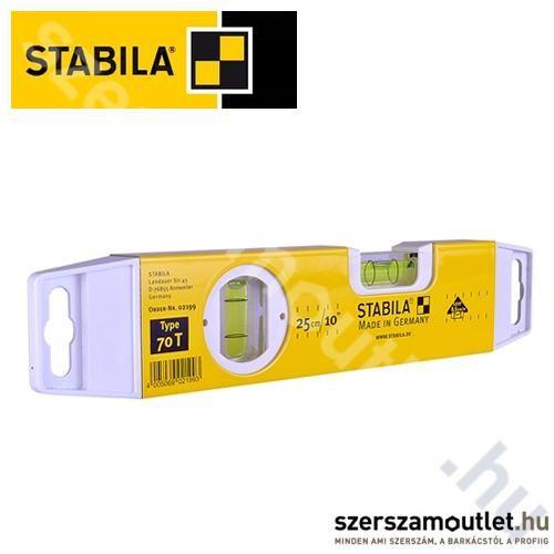 STABILA Alumínium Vízmérték 70t 25 Cm Torpedó