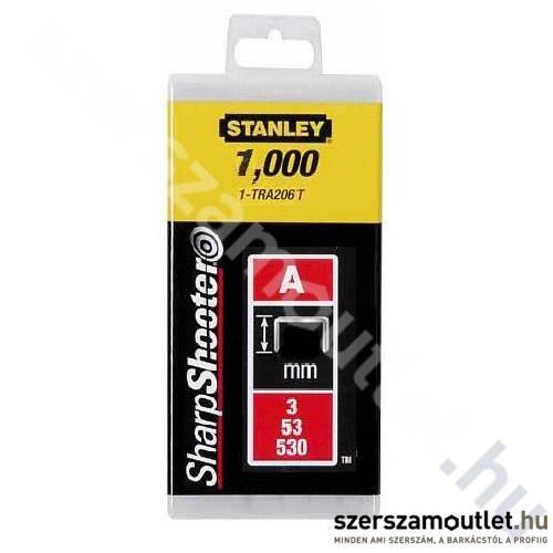 STANLEY Tűzőkapocs A típusú/4 mm/1000 db (1-TRA202T)