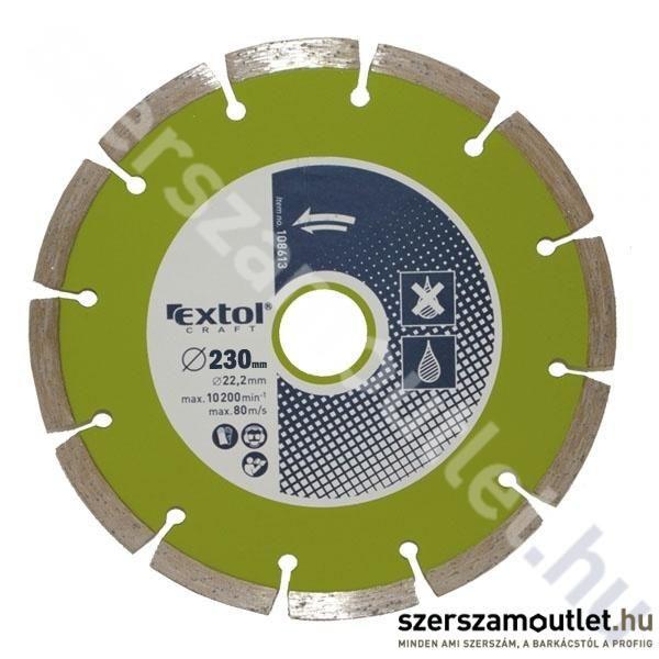 EXTOL Gyémántvágó Szegmenses 230X22,2mm