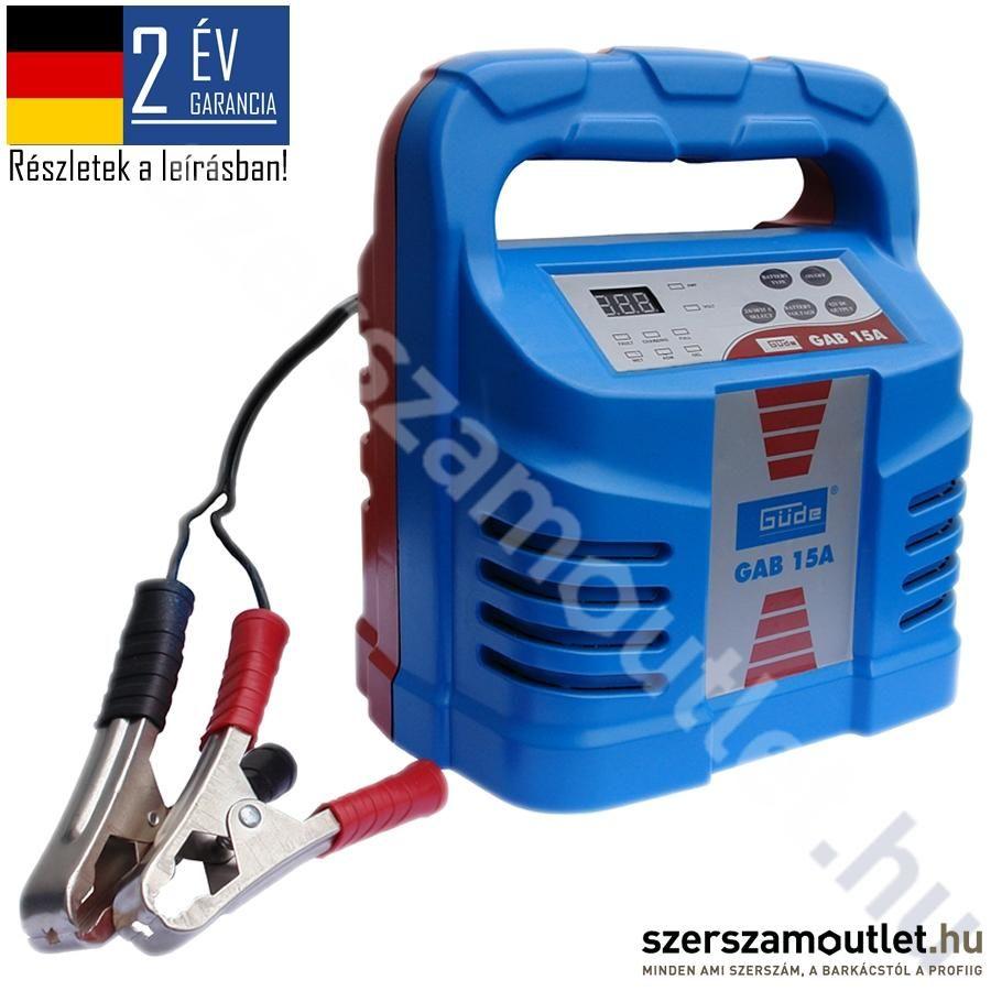 GÜDE GAB15A automata akkumulátortöltő (85063)