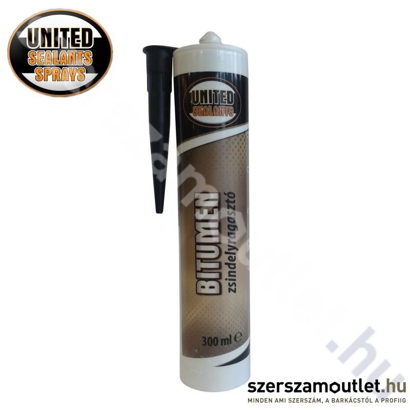 United Sealants Bitumen Zsindelyragasztó 300ml