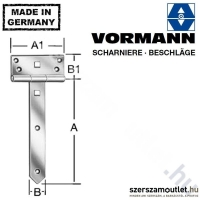 VORMANN T-kapupánt 250x33mm (124250Z)